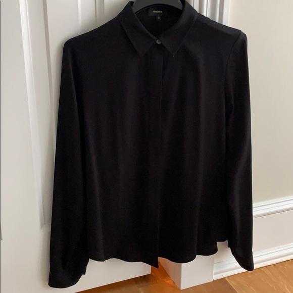 Theory Tops - Theory Silk Black Shirt